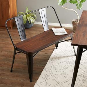 屋外使用可能 ヴィンテージ調 ダイニングベンチ 幅115cm ベンチ チェア チェアー 椅子 イス ダイニング 木製 無垢材|rcmdhl