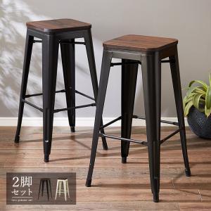 屋外使用可能 ヴィンテージ調 カウンターチェア 2脚セット バーチェア チェア ハイスツール 椅子 スツール 木製 無垢材|rcmdhl