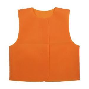 衣装ベース J ベスト オレンジ 運動会 発表会 イベント 衣装ファッション|rcmdhl