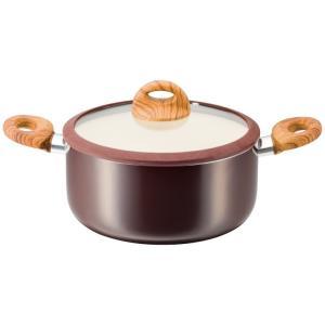 ククナキッチン 木目調セラミックアルミ両手鍋24cm KKN-WA24R 代引不可|rcmdhl