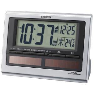 シチズン ソーラー電源電波目覚まし時計