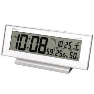 セイコー 電波デジタル目覚まし時計 SQ762W 代引不可|rcmdhl