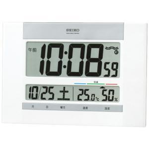 セイコー 温湿度計付掛置兼用電波時計 SQ429W 代引不可|rcmdhl