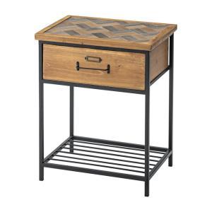サイドテーブル 幅40×奥行29×高さ50cm サイドテーブル 北欧 木製 おしゃれ レトロ モダン サイドデスク ベッドサイド 代引不可|rcmdhl