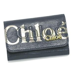 クロエ chloe キーケース 3po304 8a849 6-key holder eclipse greyblue rcmdhl