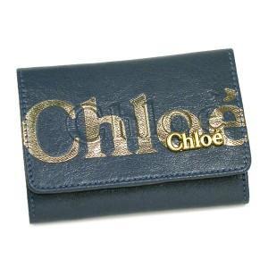 クロエ chloe 定期入れ パスケース 3po305 8a849 pass holder eclipse greyblue rcmdhl