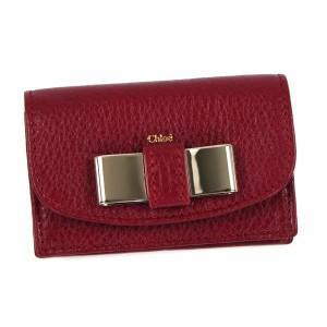 クロエ chloe カードケース lily 3p0550 business card holder with gusset red rcmdhl