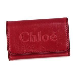 クロエ chloe キーケース shadow 3p0333 6key holder peony red red/pk rcmdhl