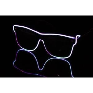 ELEX光るラインサングラス 紫 代引不可|rcmdhl