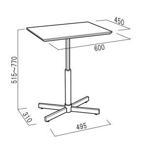 ルネセイコウ 昇降テーブル ブランチ ヘキサテーブル 日本製 組立品 BRX-645T 代引不可|rcmdhl|06