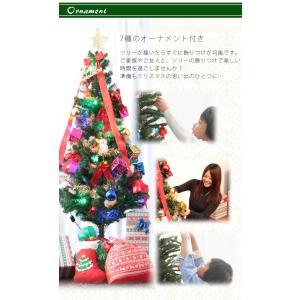 クリスマスツリー 120cm オーナメントセット 7点 クリスマス ツリー セット 飾り イルミネーション 電飾 LEDライト 北欧 おしゃれ LED|rcmdhl|06