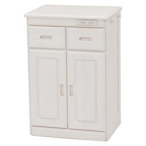萩原 キッチンカウンター MUD-6520WS 収納 キッチン コンセント付き 代引不可|rcmdhl