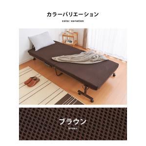 高反発 折りたたみベッド セミシングル 幅94cm ベッド 折り畳みベッド 折りたたみ ベッド 代引不可 rcmdhl 02