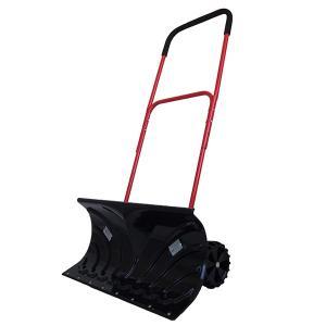 雪かき 車輪付スノープッシャー 道具 除雪機 手押し ショベル 降雪 スノーダンプ キャスター付き 代引不可|rcmdhl
