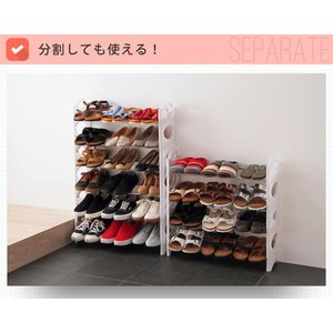 シューズラック 10段 収納 靴箱 シューズボックス 下駄箱 薄型 スリム 靴入れ シューズbox|rcmdhl|03
