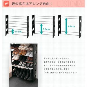 シューズラック 10段 収納 靴箱 シューズボックス 下駄箱 薄型 スリム 靴入れ シューズbox|rcmdhl|04