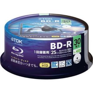 TDK 1回録画用ブルーレイディスク 25GB 1-4倍速 ホワイトディスク 30枚 BRV25PWB30PA 代引不可 rcmdhl