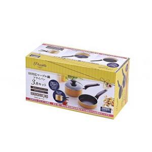 カクセー PC-011 Precolle -プレコレ- IHマーブル 鍋フライパン 3点セット|rcmdhl
