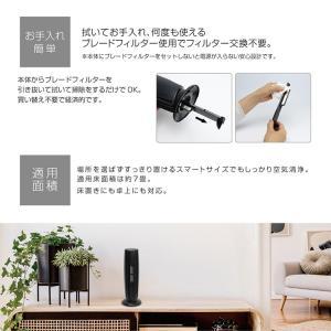 USB イオン 空気清浄機 卓上 コンパクト 匂い ほこり マイナスイオン MEH-108 静音 スリム シンプル ホワイト ブラック|rcmdhl|10