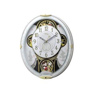 シチズン CITIZEN リズム時計製 からくり電波掛け時計 4MN509MC03|rcmdhl