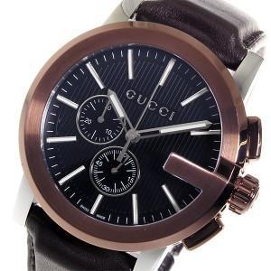 グッチ GUCCI Gクロノ クオーツ メンズ 腕時計 YA101202 ブラック