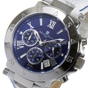 サルバトーレマーラ クオーツ クロノ 腕時計 SM8005S-SSBLWH ブルー/ホワイト rcmdhl