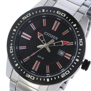 シチズン CITIZEN クオーツ メンズ 腕時計 BI1061-50E ブラック|rcmdhl