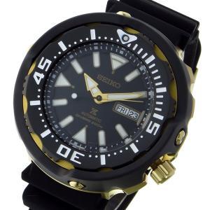 セイコー SEIKO プロスペックス PROSPEX ダイバー 自動巻き メンズ 腕時計 SRPA82K1 ブラック/ゴールド rcmdhl