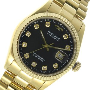 テクノス TECHNOS クオーツ メンズ 腕時計 T9604GB ブラック|rcmdhl
