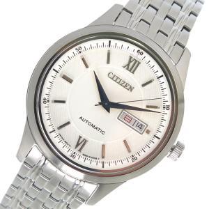 シチズン CITIZEN 自動巻き メンズ 腕時計 NY4051-51A ホワイト|rcmdhl