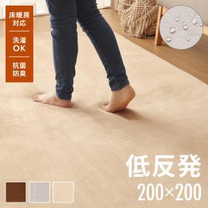 マイクロファイバーフランネルラグマット 185x185cm 正方形 洗える M|rcmdhl
