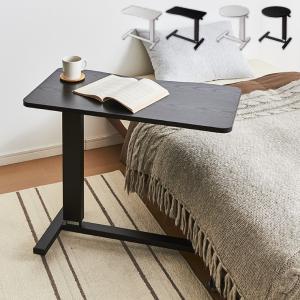 ガス圧 昇降式マルチテーブル 高さ67~97cm キャスター付き ラウンド スクエア テーブル サイドテーブル ベッドサイド|rcmdhl