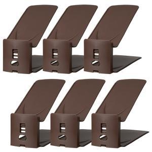 吉川国工業所 靴 収納 くつホルダー 高さ調節 6個入り ブラウン|rcmdhl
