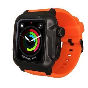 ROOX ルークス Apple Watch Series4&5 44mm用 防塵防水ケース タフネス オレンジ YHDIPCW5L-OR バンド ケース セット|rcmdhl