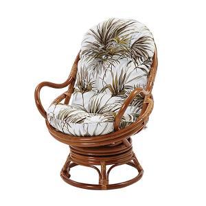 回転チェア 葉柄 回転チェア チェア スツール 椅子 座椅子 アジアン エスニック 一人掛けソファ 代引不可|rcmdhl