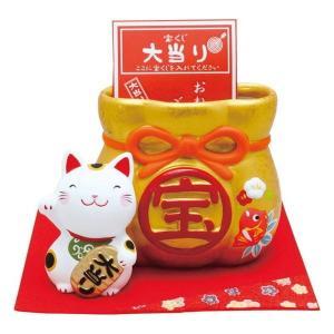 招き猫宝くじ入れ 018-0226 代引不可