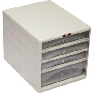 TRUSCO レターケース 引き出しA4浅型3個、A4深型1個 TOA4-S3W1 オフィス家具・レターケース
