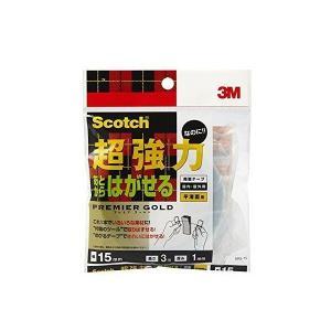 スコッチ 両面テープ はがせる両面テープ 幅15x3m SRG-15 1カン  JANコード:454...