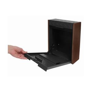 ポスト 壁掛けポスト ブラック グレー ブラウン 鍵付き 防犯 錆びにくい 代引不可|rcmdhl|07