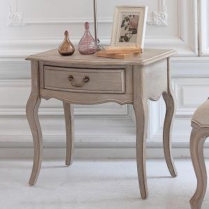 サイドテーブル アンティークシャビーシック シシリー 引出 引き出し 収納 ナイトテーブル サイドボード 棚 ホワイト 木製 代引不可|rcmdin