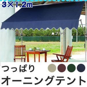 つっぱり オーニングテント 3M 日よけ スクリーン つっぱり式 雨よけ ガーデニング エクステリア 代引不可|rcmdin