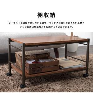 テーブル キャスター付 マルチテーブル ローテーブル センターテーブル サイドテーブル テレビボード テレビ台 オープンラック rcmdin 07