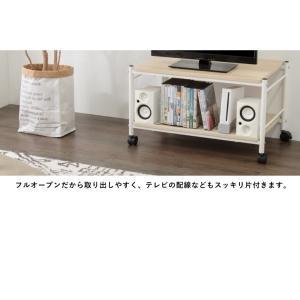 テーブル キャスター付 マルチテーブル ローテーブル センターテーブル サイドテーブル テレビボード テレビ台 オープンラック rcmdin 08