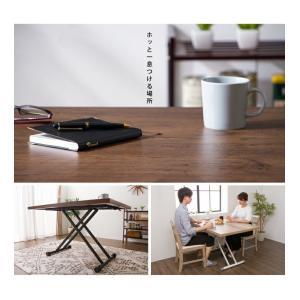 テーブル ガス圧昇降式テーブル 昇降テーブル ダイニングテーブル ローテーブル センターテーブル リビングテーブル デスク 代引不可|rcmdin|11