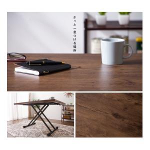 テーブル ガス圧昇降式テーブル 昇降テーブル ダイニングテーブル ローテーブル センターテーブル リビングテーブル デスク 代引不可|rcmdin|12
