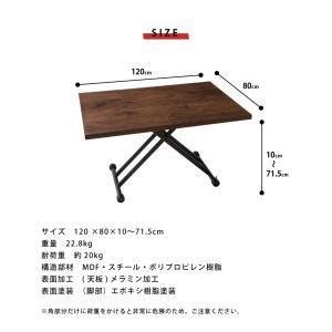 テーブル ガス圧昇降式テーブル 昇降テーブル ダイニングテーブル ローテーブル センターテーブル リビングテーブル デスク 代引不可|rcmdin|03