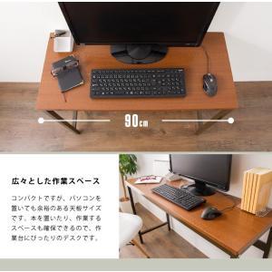 デスク スマートデスク 90×40 机 パソコンデスク オフィスデスク 多目的デスク つくえ 勉強机 PCデスク コンパクト|rcmdin|07