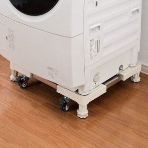 洗濯機スライド台 洗濯機台 洗濯機置き台 キャスター付き 洗濯機ラック ランドリー 洗濯機 掃除 洗濯機パン 排水パン スライド台|rcmdin
