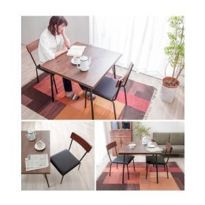 ダイニングテーブル正方形 80×80cm 木製 アイアン テーブル シンプル モダン おしゃれ ダイニング 新生活 代引不可|rcmdin|04