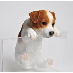 置物 ハンギングドッグ ジャックラッセル 子犬のぶら下がり置物 癒やしグッズ 代引不可